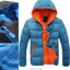 Fashion-Men-Boy-Winter-Warm-Hooded-Thick-Padded-Jacket-Zipper-Slim-Outwear-Coat miniatura 11