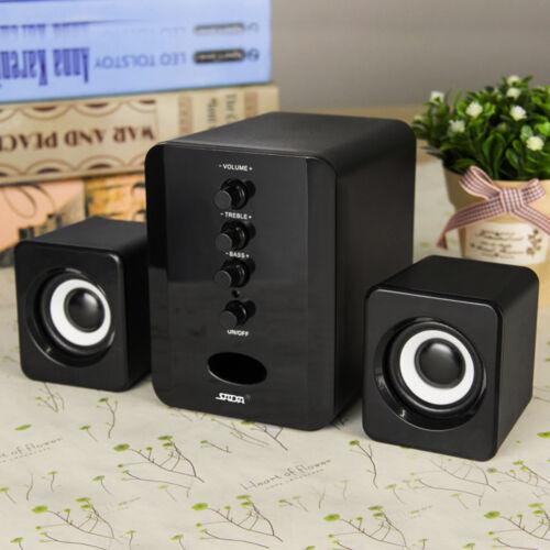 USB Power Computer Speakers PC Desktop Laptop System Subwoofer 3.5mm Jack I7P5