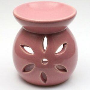 Small-Pink-Flower-Wax-Warmer-Burner-amp-pack-of-10-Handpoured-Scented-Melts