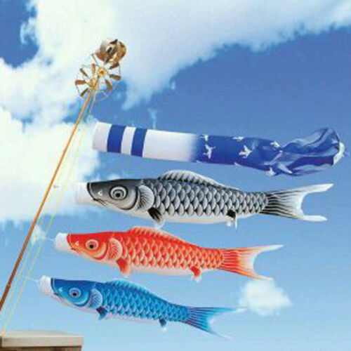 Japan Windsock Carp Flag Koi Nobori   Kite Streamer Garden Decor x5 Color