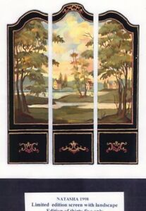 1-12-scale-Natasha-Beshenkovsky-039-s-Mini-Decoupage-Ltd-Edt-Screen-with-Landscape