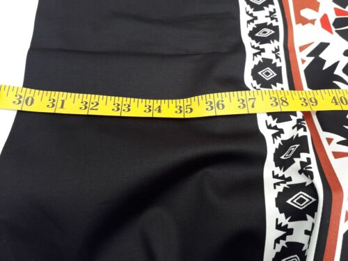 W 152 cm New-Medium Weight Black//White//Red Tribal Design 100/% Cotton Fabric