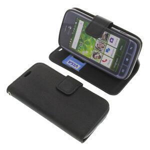 Case-for-Doro-Liberto-820-Mini-Book-Style-Protective-Case-Phone-Case-Book-Black