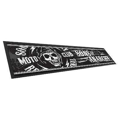 Sons Of Anarchy SOA Bar Runner Mat for Man Cave Snooker Pool cue Room