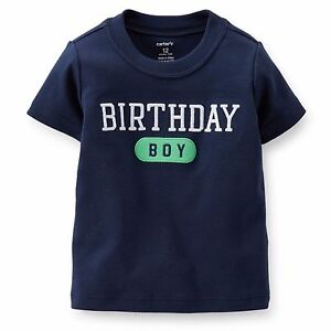 NEW Carters Boys Or Girls First Birthday Bodysuit Shirt Bib 9 12 18 Months