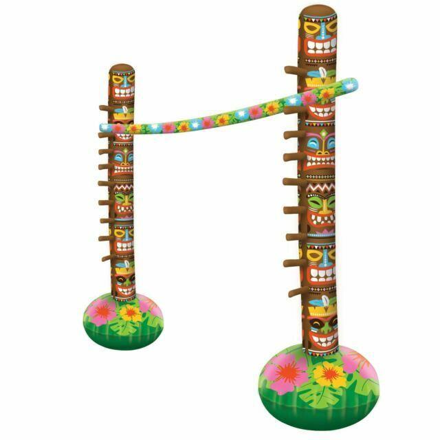 Inflatable Limbo 3 Piece Set Hawaiian Beach Pool Fancy Dress Party Game Birthday
