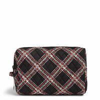 Vera Bradley Factory Exclusive Large Cosmetic Bag In Minsk Plaid on sale