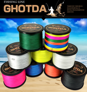 GHOTDA 8 Strands Braided Fishing Line (300- 1000m ) 22-78 LB Extreme PE Strong
