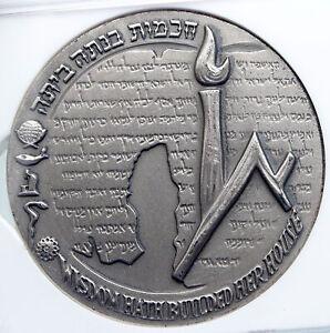 1965 ISRAEL Vintage HEBREW UNIVERSITY of JERUSALEM Old Silver Medal NGC i89340
