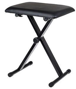 Lovely Image Is Loading Black Adjustable Piano Keyboard Bench Leather Padded Seat