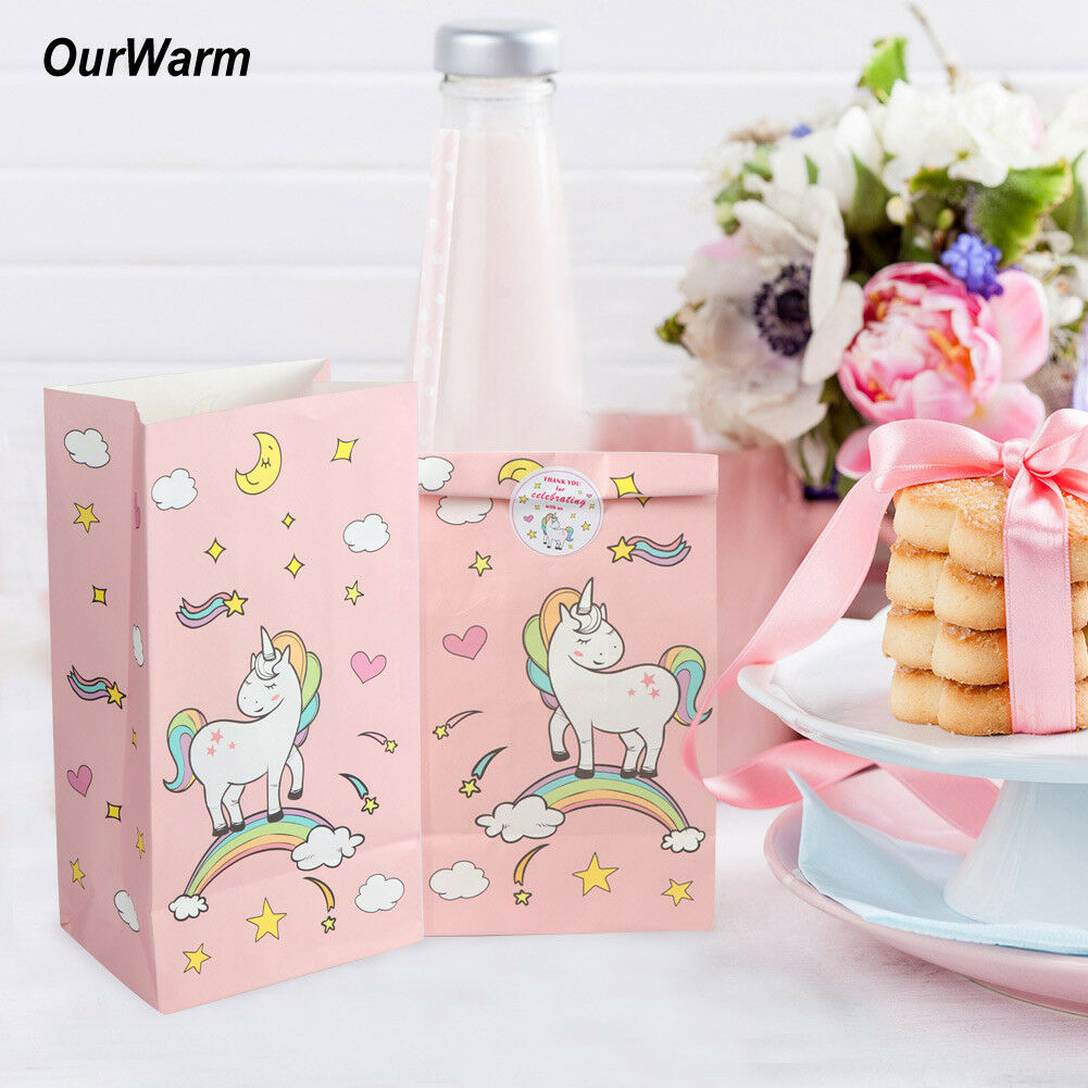 Unicorn Paper Candy Bag Gift Treat Bags Birthday Wedding Party ...