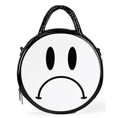NEW KILL STAR Black/White SAD FACE Crossbody Handbag -40% OFF