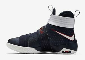 finest selection 2aae5 8c0ac Image is loading NIKE-LEBRON-SOLDIER-10-SFG-USA-OLYMPIC-GAMES-