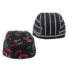 Pepper Pattern Tinksky Chefs Hat Chef Skull Cap Kitchen Catering Ribbon Cap Turban