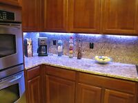 Led Under Cabinet Light Strip 5m W/remote 16 Ft Rgb Dimmable N-wp Fast-usa-ship