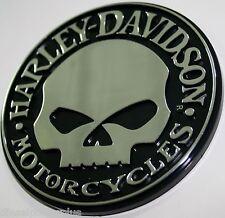 willie g harley davidson skull bike 3d emblem tag chrome adhesive sticker 3m HD