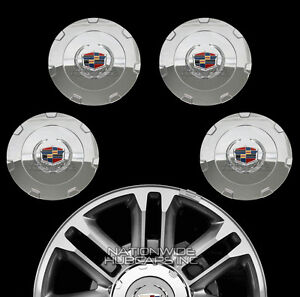 "2015-2017 Cadillac Escalade 22/"" Chrome Wheel Center Hub Caps Rim Lug Covers Hubs"