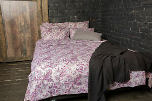 Set-of-bed-linen-034-Paisley-pink-034-flax