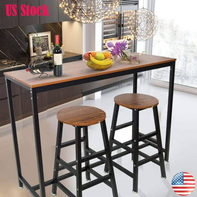 Terrific Wood Pub Bar Table Chair Counter Height Kitchen Dining Set Home Office Furniture Caraccident5 Cool Chair Designs And Ideas Caraccident5Info