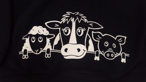 British Country Collection Navy Printed On The Farm Hoodie Sizes 1-8 Years