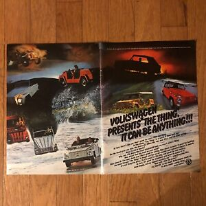 1973-VW-THE-THING-2-Page-Print-Ad-It-Can-Be-Anything