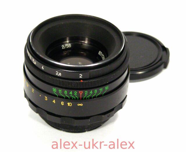 Russian Helios-44-2 lens 2/58 mm for Zenit Canon M42 mount.Excellent+.№83158885