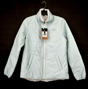 The North Face Womens Blue Zip Up Quilted Merriewood Reversible Jacket S $149