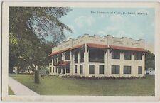 Florida FL Postcard c1920s DE LAND The COMMERCIAL CLUB Building