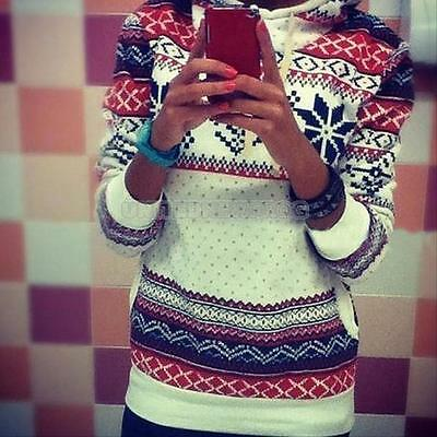 2015 Women christmas Winter Hoodie Sweatshirt Jumper Sweater Hooded Pullover Top