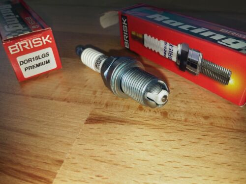 2x DOR15LGS-WC = Brisk High Performance LGS Silver Electrode Upgrade Spark Plugs