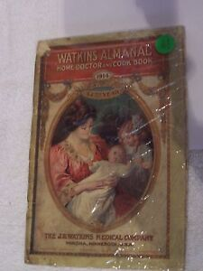Watkins Almanac Book 1914 Vintage Home doctor and Cookbook