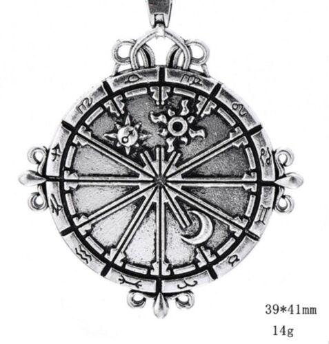 New Steering Wheel Sun Moon Pendant Supernatural Power Steampunk Necklace Star