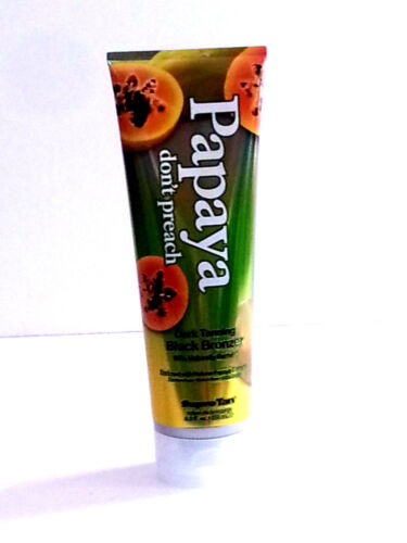 SUPRE Tan - PAPAYA DON'T PREACH - BLACK BRONZER - Indoor Tanning bed Lotion -