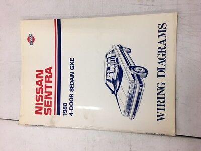 88 nissan sentra wiring diagram 1988 nissan 4 door sedan gxe sentra shop service repair wiring  1988 nissan 4 door sedan gxe sentra