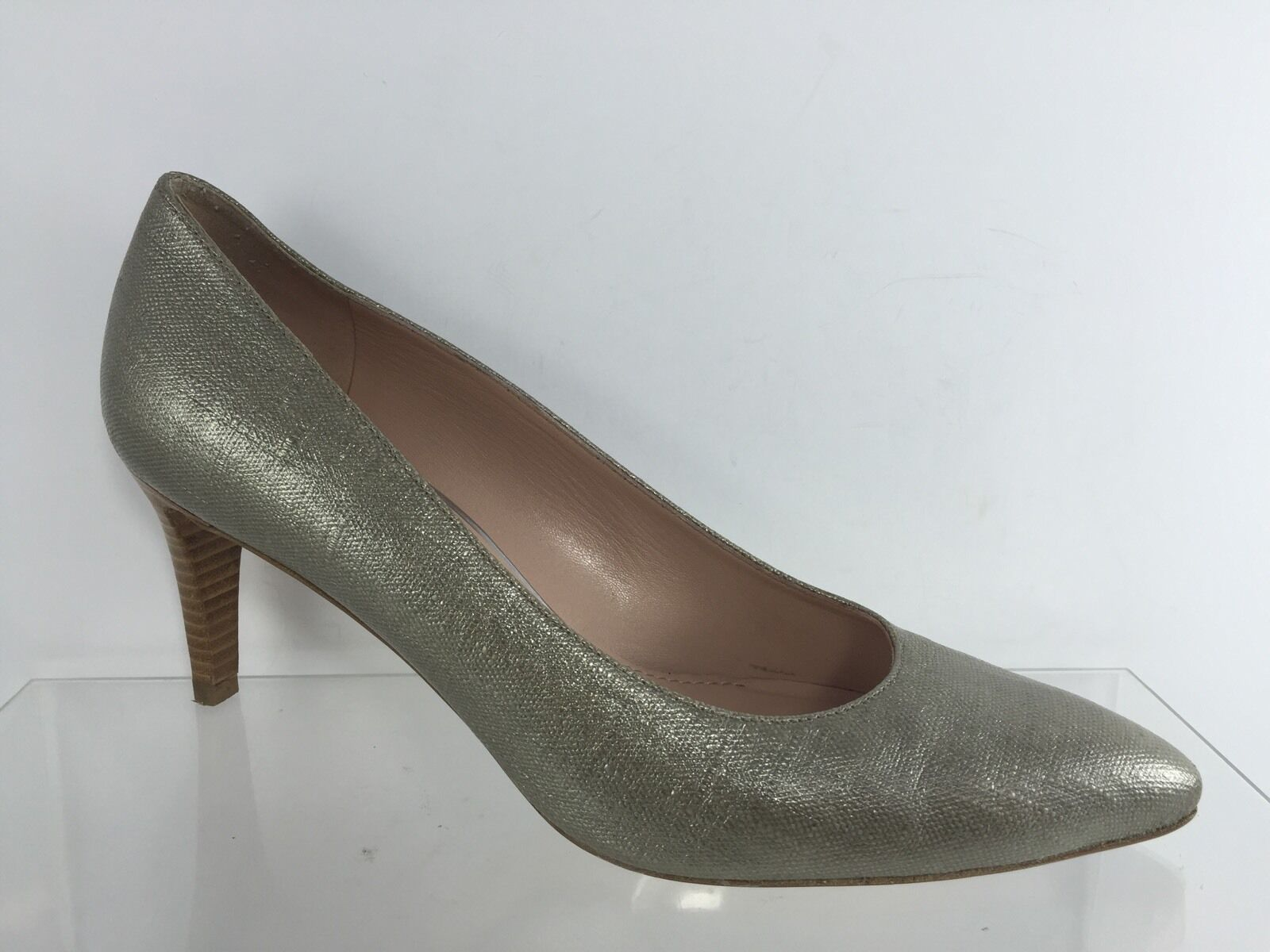Stuart Weitzman Womens Pewter Heels 9.5 M