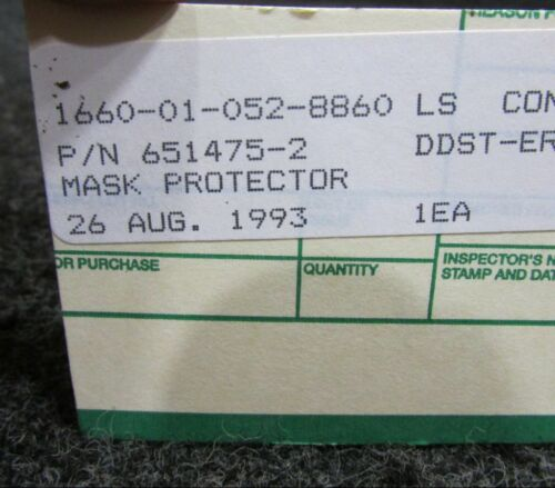651475-2 Cessna L-19 Full Face Mask Protector NEW OLD STOCK