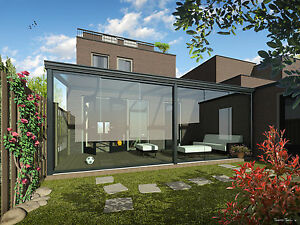 terrassendach 5 x 3 m alu anthrazit vsg glas 8mm terrasse berdachung ebay. Black Bedroom Furniture Sets. Home Design Ideas