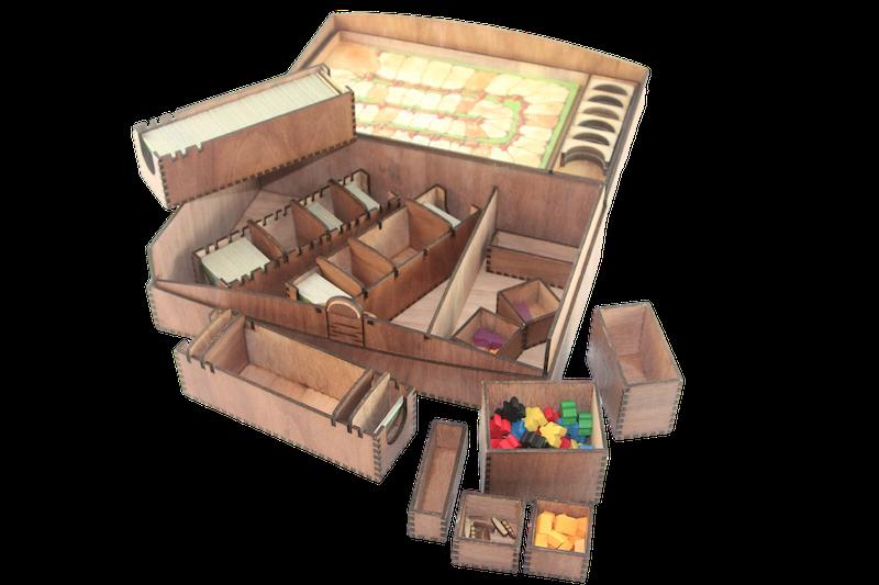 Standard Wooden Carcassonne Game Storage Storage Storage Box 870683