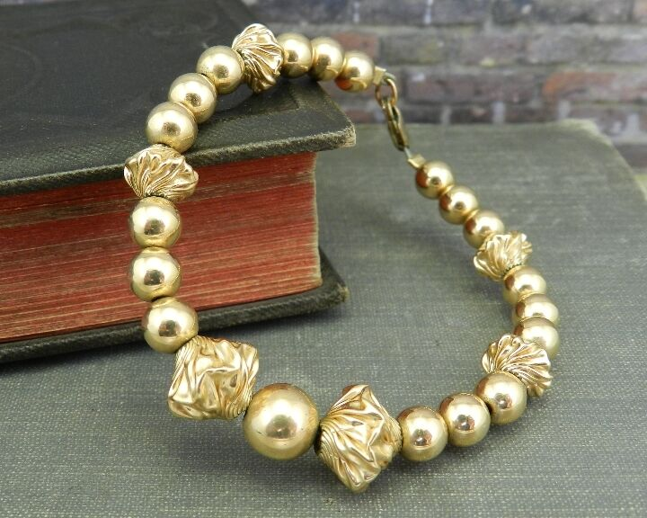 gold Filled Fancy Beaded Bracelet