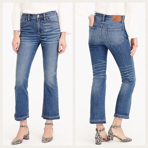 J. CREW Billie Demi Boot Crop Jean Collinson High Rise Size 32 US 14