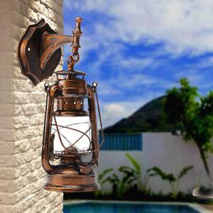 Retro-Lantern-Antique-Vintage-Rustic-Lamp-Wall-Sconce-Light-Fixture-Outdoor