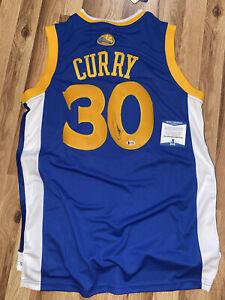 STEPHEN CURRY Signed Autograph Golden State Warriors Jersey Beckett BAS COA