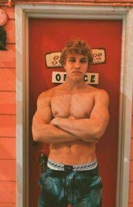 Shirtless Male Beefcake Muscular Blond Haired Hard Body Jock Hunk PHOTO 4X6 G725