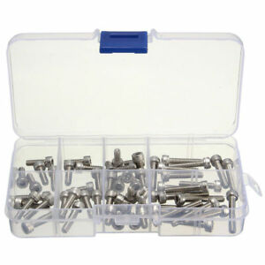 4-40-UNC-Hex-Socket-Head-Cap-Screws-Hex-Nuts-Assortment-Set-Stainless-Steel
