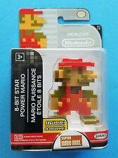 "Walgreens Exclusive World of Nintendo 8-Bit Star Power Mario 2.5"" Figure"