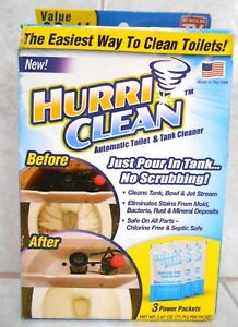 Hurriclean Automatic Toilet Amp Tank Cleaner Value 3 Pack