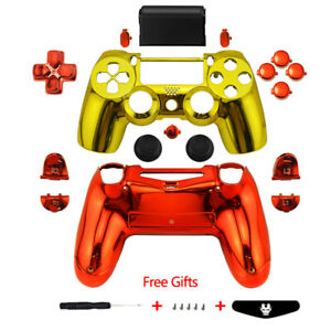 Chrome-Full-Custom-Replacement-Mod-Kit-PS4-Slim-Pro-Controller-Shell-Cover