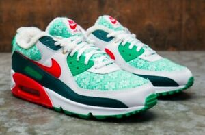Details about Size 10.5 Men's Nike Air Max 90 Nordic Christmas Sweater Snowflakes Ships