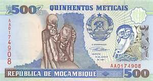 Other African Paper Money Mozambique 500 Meticais 16.6.1991 Series Aa Uncirculated Banknote Red11 Factory Direct Selling Price Paper Money: World