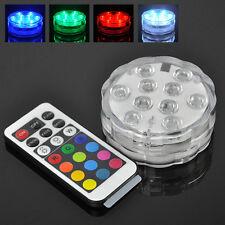 4W UFO RGB 10 LED Unterwasserlicht Farbwechsel Beleuchtung Unterwasser Aquarium